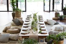 Modern outdoors dinner party