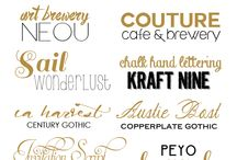 Fonts  / by Christina Carter