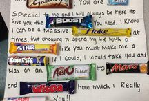 Chocolate treat letter
