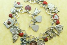 Silver charms and bracelets