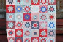Patchwork quilt love