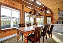 Dining Room Designs by Timber Block Custom Homes / The dining room is where some of the best conversations happen! From Contemporary to Classic, to a mix of both, Timber Block home owners get to build just the way they want.