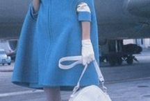 Vintage Flight Attendant Uniforms / It's ALL about classic flight attendant fashions.
