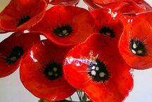 Ceramische bloemen