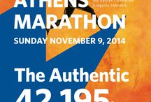 Athens Marathon / My contribution as a graphic designer for the Athens Marathon. The Authentic! The only course in the world from the city of Marathon to Athens.