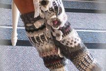 вязание / вязание спицами и крючком из остатков пряжи