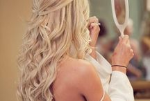 wedding dress + hair