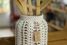 Vestido crochet para frascos /frasquitos