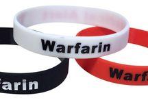 Warfarin Medical Alert Bracelets / Medical alert bracelets for people on the blood thinner warfarin.