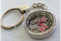 Glass memory locket Keyring, Necklace