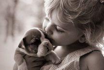 Фото черно-белое Дети