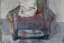 Stole / kunst maleri