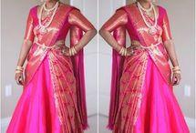cancan saree drape