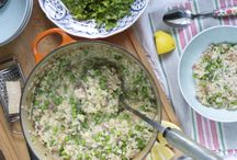 Risotto recipes / I love risotto. From the traditional stirring method, to baked, to no stir risottos - they rock! Here are some favourite risotto recipes!