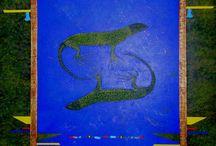 Per la casa / Pinturas inspiradas a las pinturas rupestres