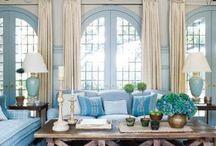Salon / Piękny salon w błękitach