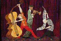 Art quilt - music