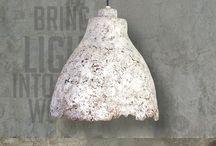 THE PAPER MOON FACTORY - Eggshell Concrete Light