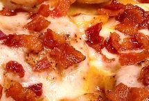 chicken and cheese bacon casorol