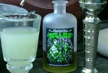 Absinthe Bizarre ready to drink / A wonderful setting at a very nice place. Enjoy your Absinthe Bizarre with some friends.