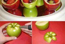 decoraciones y cortes de frutas