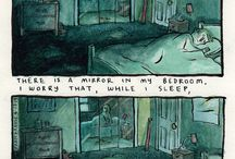 compilation of deep dark fears / we all have deep dark fears that are almost always irrational and probably rooted from our childhood and most likely festered when we were alone and trapped in our thoughts. deep dark fears illustrates those fears in a comic form and they're funny to see but also exposes us to a whole new set of fears we never thought we had.