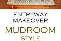 Entries and Mudrooms | Home Decor / Inspiration and Ideas for Entryways and Mudrooms including decor and organization ideas.