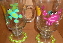 Painted glassware / by Kathy Reiter