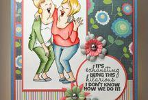 Cards- Art Impressions- Girlfriends / Girlfriends