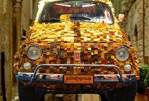 Fiat 500 vintage / Fiat 500 L 1969 interamente ricoperta in legno
