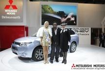 Mitsubishi stands