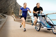 Stroller / No babysitter? Take your child on a run with the jogging stroller.
