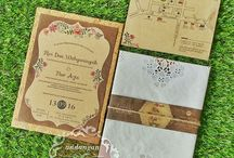 Kartu Undangan / Undangan pernikahan unik