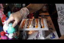 Fluid acrylic pour