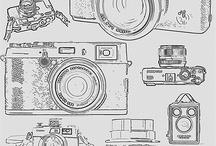 Fotografia / zdjęcia, rysunki, grafiki związane z aparatami i fotografią