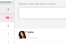Thalía y  Yo en Twitterland! / Responses and likes from Thalía!