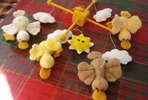 needle felted mobiles