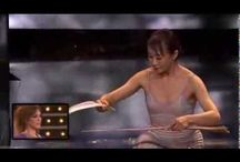 Miyoko Shida / She performs an act of extreme concentration and balance.