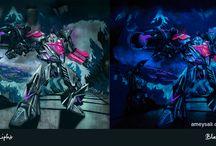 Transfromer themed Laser Tag / Blacklight painting