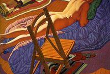 """Jack Beal / Walter Henry """"Jack"""" Beal Jr. (25 Juin, 1931 - Août 29, 2013), était un Américain réaliste peintre . Jack Beal est né à Richmond, en Virginie , et il a vécu à Oneonta, New York avec sa femme, l'artiste Sondra Freckelton. Il est mort à Oneonta en Août 2013."""