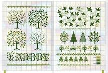 cross stitch - nature