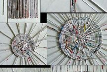 Pletení z ruliček papíru