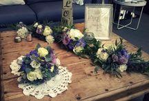 D1J - Mariage champêtre et bohème / Décoration de mariage champêtre et bohème Violet, blanc, rose pale