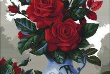Haft Krzyżykowy - Róże