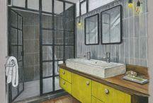 Dibujos de interiores en perspectiva
