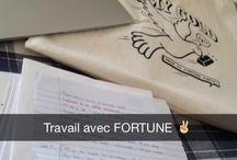 YOUR ARE FORTUNE PARIS! / Snapchat screenshots of Fortune Paris friends.