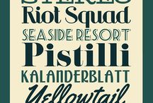 Retro fonts, designs & typography
