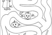 Labyrinty,omalovanky