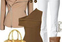 Δερμάτινο μπουφάν-λευκό παντελονι
