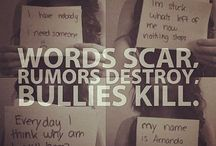 cyber bullying. ...I hate people who bully